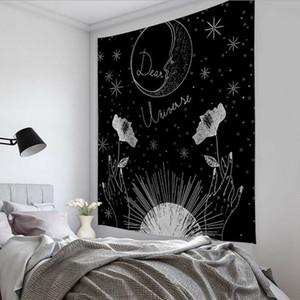 150 * 100cm Carte Tarot Tapestry astrologie Sun Moon Printting Tapestry Beach Yoga Mat mur polyester suspendu Accueil Chambre Décor HHA1176