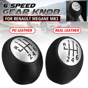 6 Speed Gear Shift Knob Manual Lever Shifter Handball PU Leather For Megane Clio Laguna Scenic For Vauxhall
