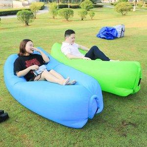 Al aire libre Colchoneta inflable rápido Lazy Air Bag Sofá Laybag dormir cojín de colchón de aire para adultos cama Tumbona silla de camping Colchón