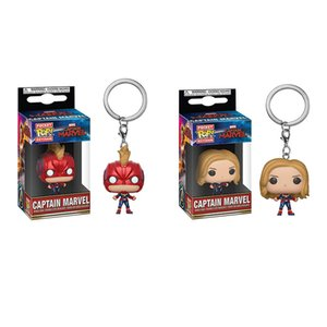 Avengers 4 Funko POP Capitán Marvel Figuras de acción de juguete PVC Superhéroe de dibujos animados juguetes de la película niños regalo colgante accesorios AAA1916