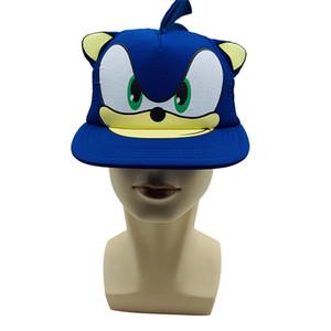 Новый Sonic The Hedgehog Мультфильм Молодежный Регулируемый Хип-Хоп Шляпа Cap Синий Для Мальчиков Sonic Hot Selling Косплей Подарки Игрушки
