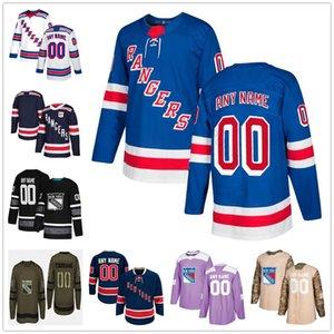 Custom Rangers de New York # 21 Brett Howden 20 Chris Kreider 72 Filip Chytil 26 Jarret Stoll 17 Jesper Fast Hommes Femmes Enfants Jeunes Maillots de Hockey