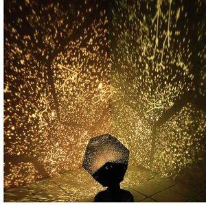 LED Star Master Gece aydınlatması LED Yıldız Projektör Lambası Astro Sky Projeksiyon Cosmos Gece Işığı Lambası Çocuk Hediye Ev Dekorasyon açtı