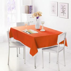 Dentelle Nappe Solide Couleur Décorative Nappe Polyester Table Cloth Table Cover Table Cover Pour Party Home Décoration En Gros DBC VT0534