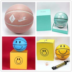 cesta de la Copa de Europa de baloncesto 2020 Spalding conjunta sonriendo PU mundial bola de edición limitadaTiffanyJuego de pelota al aire libre