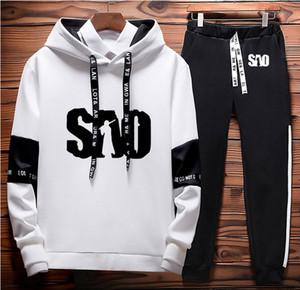 SÃO Sword Art Online Impresso Hoodies Men Casual camisola Harajuku Moda Streetwear Men Hoodies Calças Suit 2pcs sportwear K