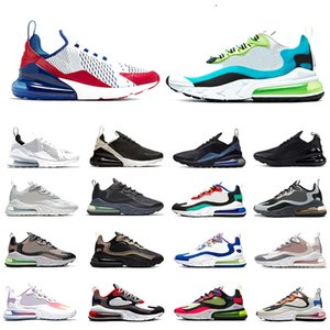 Nike air max 270 react shoes BAUHAUS white Blue React men running shoes OPTICAL triple black mens trainers breathable sports outdoor sneakers 40-45