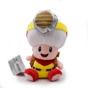 "Grátis 8"" 20 centímetros Standing Capitão Toad Super Mario Brother cogumelo Toad Bicho de Pelúcia Plush Doll Toy Y200703"