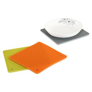 Квадратный стол Мат силиконовый коврик для выпечки Liner Kid Placemat Многофункциональные Kitchen Мат Pad Печь Маты Теплоизоляция Non скольжения Pad VT0413
