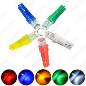 도매 50PCS 5 색 T5 (286) 2721 오목 1-LED 자동차 대시 보드 웨지 자료 LED 조명 전구 12V의 # 1025