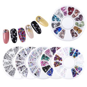 Nail Art Décoration Paillettes Charm Gem Perles strass brillant Mixte Glitter 3D Accessoires Nail outil 07