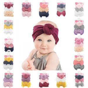 17 stili neonate Hairbands 3pcs / regalo Accessori Set Bowknot sfera della ciambella dei capelli delle fasce Turbante Toddlers Bambini Bambini capelli del partito