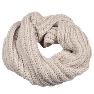 Winter Knitted Scarf Women Men Crochet Long Snood Female Tube Scarves Shawl Wrap Neck Warmer Scarf Circle Wool Collar sjaal A40