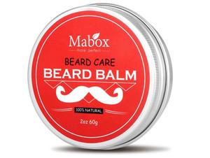 Mabox اللحية الطبيعية البلسم اللحية بلسم للسادة 60 جرام الشمع الشارب العضوي الطبيعي للشعيرات السلس التصميم لحية الرعاية