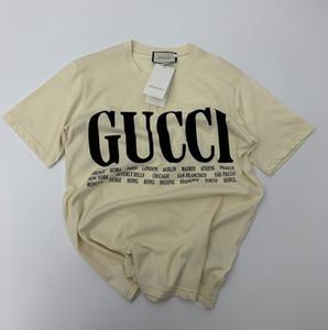Homens Mulheres Desigherluxury Camisas do verão nova moda de luxo Top Tees Mens Brandshirts manga curta Casual Tees Hip Hop Streetwear 2021705Y