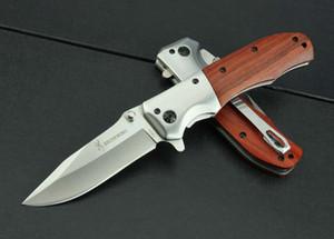 Toptan Browning DA51 Hızlı Açık Taktik Katlama Bıçak Ahşap Açık Kamp Av Survival Pocket Knife Yardımcı EDC Aracı