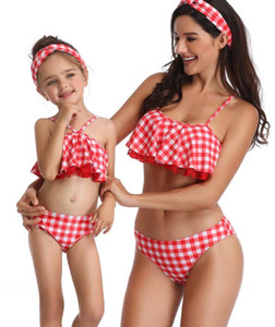 Top precioso 2020 sirena de una sola pieza elegante del leopardo flexibles juegos de impresión bikini impresión atractiva hija joven madre flash de alta cintura padres yakuda