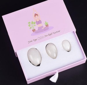 Kristall Jade Yoni Yoni Heilung für Übung Weiße Eier Egg Frauen Set Vaginaleier Kegel Edelstein HVQBP