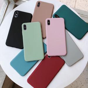 Casi di coppie di silicone di colore solido per iphone XR X XS Max 6 6S 7 8 Plus Carino Candy Color morbido semplice Fashion Phone Case NUOVO