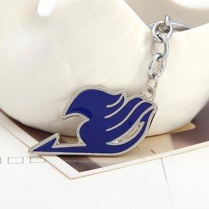 Fashion- Schmuck Fairy Tail Schlüsselanhänger Mode-Legierung Schlüsselanhänger Ring 4 Farben Großhandels24pcs / Lot Schlüsselanhänger Zubehör