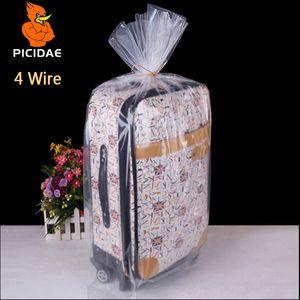 4 fios 17x25 cm PE embalagem Fosco saco De Armazenamento de plástico Transparente bolso Aberto plana à prova de poeira colcha de brinquedo boneca de brinquedo Congelado forro cosmético