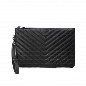 atacado bolsa TOP qualidade bolsas de couro alta qualidade real Clutch sacos de moda saco saco de mulheres carteira com caixa e saco de pó