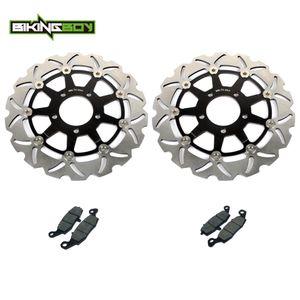 BIKINGBOY GSF 650 Bandit 05 06 GSF650 S 2004 2005 2006 SV650 09 08 07 03-10 SV 650 S 2003-12 Disques de frein avant Rotors disques Pads