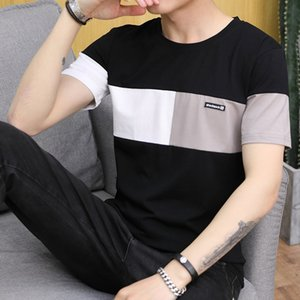 Belbello New Mode Hommes T-shirt d'été jeunes ronde col femme Chemises sur mesure Hommes Cut bande à manches courtes