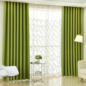 {byetee} Green Modern Curtains for Living Room Finished Customize Blackout Curtains and Tulle for Bedroom Home Cortinas