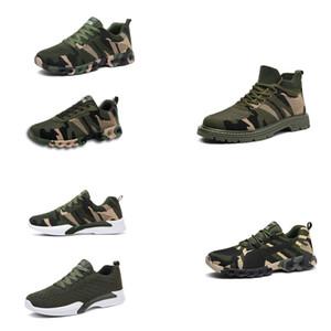 Новый Best 2020 No-Brand Дизайнерская обувь Мужчины Женщины Спортивная обувь камуфляж Army Green Открытый Тренер СИЭЗ 35-44 Стиль 17