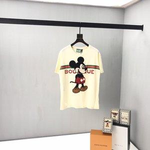 A última moda tridimensional do rato listrado letra impressa T-shirts para os designers dos homens na primavera e no verão de 2020 no Reino Unido