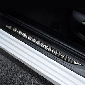 اكسسوارات عتبة الباب جرجر بلايت الحرس ألياف الكربون باب سيلز حامي للحصول على ملصق BMW F10 F30 F34 E70 X1 X5 X6 السيارة التصميم