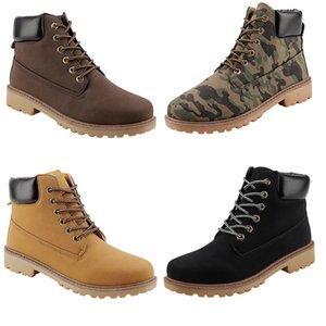 2020 الساخن غير العلامة التجارية للحصول على الرجال المرأة عارضة مارتن الجيش أحذية أخضر بني أسود أصفر عرضي حذاء جلد عارضة