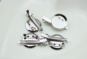 capelli a coccodrillo accessori della clip spilla in metallo doppio disco combinazione Singolo Prong denti clip per capelli fai da te archi vestiti del fiore 50pcs FJ3219