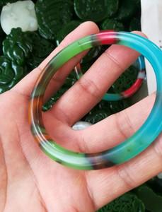 56-60mm китайский естественный красочный нефрита браслет бесплатная доставка B8