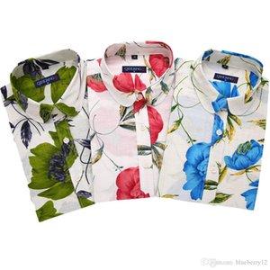 Spring Autumn Womens Long Sleeve Casual Shirts Fashion Lady Flower Printed Single Breast Shirts Stylish Blouse