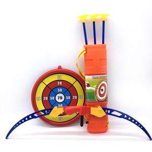대상 설정 양궁 sprots 야외 장난감 아이 소년 선물 [베스트] 슈팅 게임 시뮬레이션 활 화살표 플라스틱 소프트 어리버리 화살표