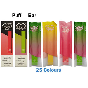 Puff Bar Disposable Pod Device With Security Code 280mAh Battery Pre-filled 1.3ml Cartridge Puff Bar Disposable Vape Pen 19 Colors VS EZZY