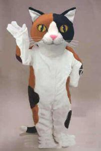 La mascota del gato de calicó historieta del traje del tamaño de carácter temático para adultos Carnaval Partido Cosply Mascotte traje de talla sirva para el vestido de lujo