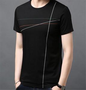 Solid Color Designer Mens magliette a maniche corte Moda Lines Panelled estate Mens Tees abbigliamento casual Maschi