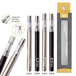 Original 5 S descartável Vape cartuchos de canetas Starter Kit 320 mAh 510 linha de bateria vazia Vape caneta cartuchos de óleo de cerâmica bobina vaporizador Kit
