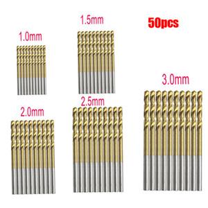 Titannitriert HSS HSS-Bohrer Set Power Tools 1mm 1.5mm 2mm 2.5mm 3mm