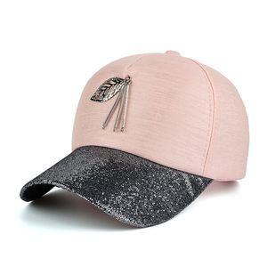 Casual Hüte für Damen Pailletten Flashes Trucker Hip Hop Cap Girl 's Breath Mütze Sommer Baseball Knochen Feminino
