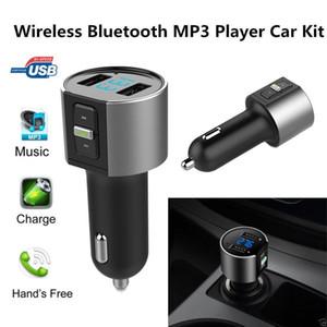 C26S بلوتوث سيارة كيت mp3 لاعب أسود أيدي المعادن الحرة الملمس fm الارسال محول راديو USB تهمة 3.4A