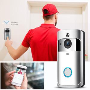 WiFi Vídeo campainha sem fio Two-Way conversa inteligente PIR campainha da porta da câmara de segurança HD