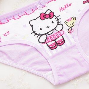 4pcs lot Girls Underwear Briefs Shorts Briefs Print Panites Girl Kids Cotton Panties Girls Underwear
