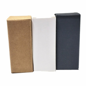 50PCS أبيض أسود براون كرافت ورقة زجاجة الزيت العطري التغليف الحزب صندوق DIY الحرف هدية الكرتون حزمة صندوق Papercard الشوكولاته مربع التعبئة