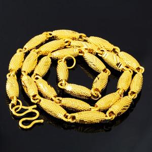 Heiße Art Neueste Gold Halskette Entwürfe keine Fade Vietnam Alluvial Goldöl Perlen-Ketten-Halskette