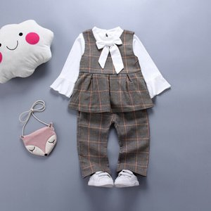 3Pcs Boutique Kid Clothes Toddler Baby Girls Formal Suit Sets Ruffle Top Pants Party Formal Cotton Clothes Sunsuits Clothings
