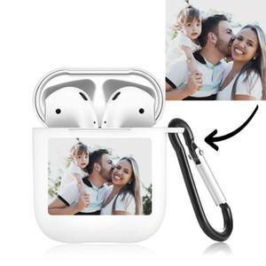 Personnalisable Nom d'image logo souple en TPU pour Air pods cas Bluetooth sans fil AirPod couverture bricolage personnalisé Lettres photo Hot
